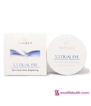 Патчи под глаза Misoli Moeilet 5,5 Dual Eye Cream Mask Brightening, 30 шт.
