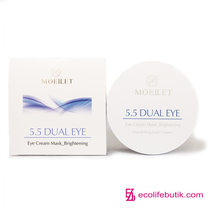 Осветляющие гидрогелевые двухфазные маски-патчи для кожи возле глаз Misoli Moeilet 5,5 Dual Eye Cream Mask Brightening, 30 шт.