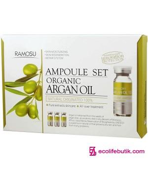 Аргановое масло для лица косметологической очистки Organic Argan Oil, 3 шт * 10 мл
