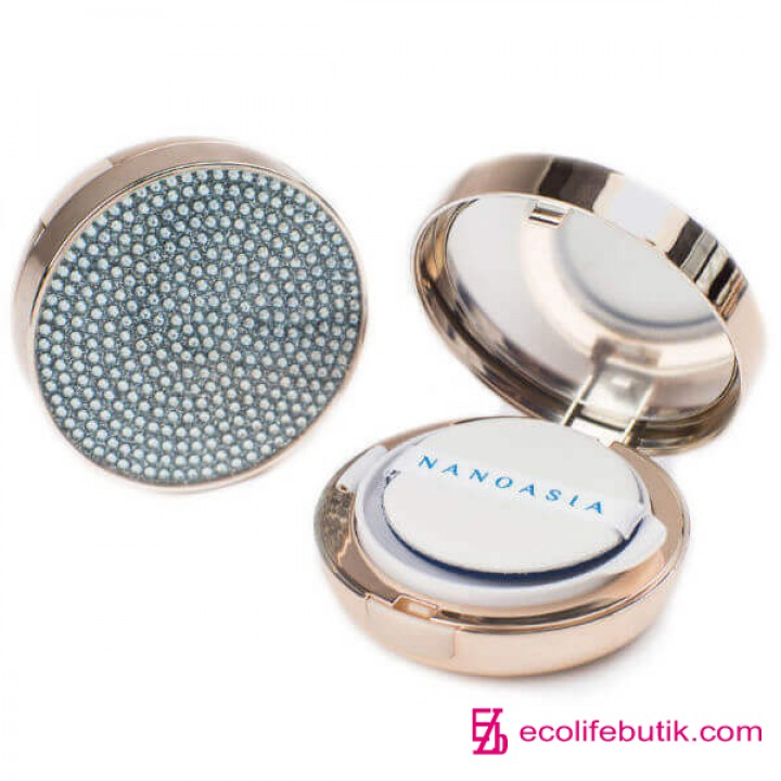 Жидкая пудра BC крем кушон с пептидами NanoAsia JEWELRY RADIANT CUSHION BC cream.