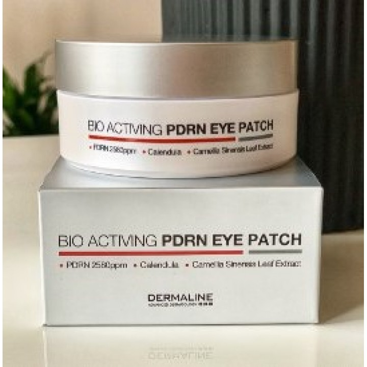 Биоактивные патчи для кожи вокруг глаз с полинуклеотидами Dermaline Bio Activing PDRN eye patch, 60 шт.