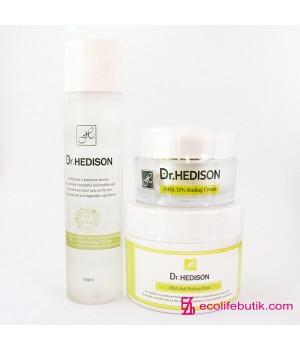 Набор для проблемной кожи c AHA-кислотами Exfoliating Line от Dr.Hedison