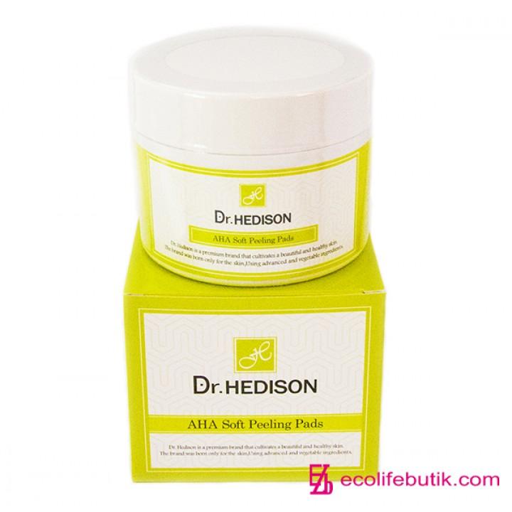 Ватные очищающие диски с фруктовыми AHA кислотами Dr.Hedison AHA Soft Peeling Pads, 70 шт.