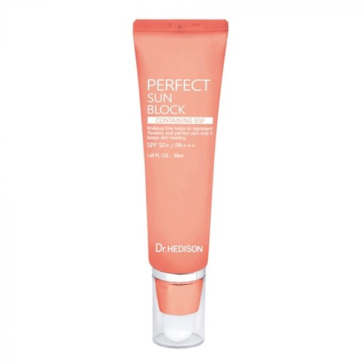 Солнцезащитный крем для лица с антивозрастным эффектом Dr.Hedison EGF Perfect Sun Block SPF50+/PA+++