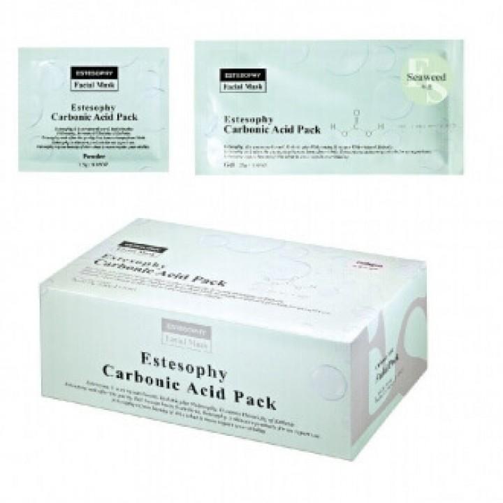 Маска для неинвазивной карбокси терапии лица c Морскими Водорослями Estesophy Carbonic Acid Pack Seaweed.