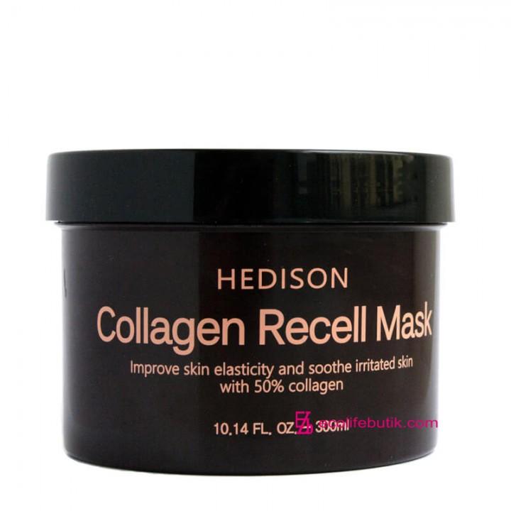 Восстанавливающая маска Dr.Hedison Collagen Recell Mask для лица с коллагеном, 300 мл (Южная Корея).