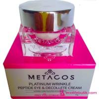 Крем с пептидами Metacos Platinum Wrinkle Peptide Eye&Decollete Cream, 11 г