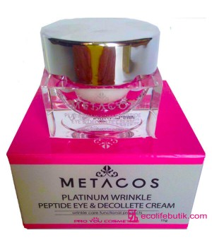 Крем с пептидами Metacos Platinum Wrinkle Peptide Eye&Decollete Cream, 11 г