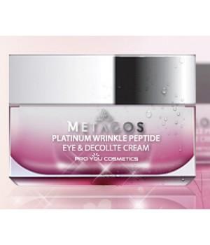 Крем с пептидами для глаз и зоны декольте Metacos Platinum Wrinkle Peptide Eye&Decollete Cream, 30 г