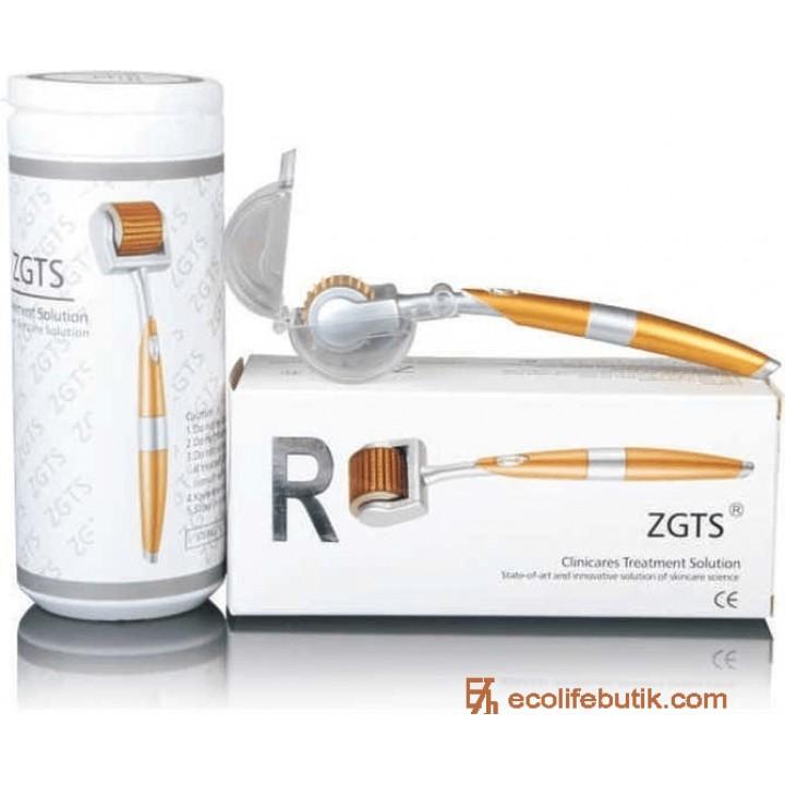 Мезороллер для домашнего применения ZGTS с позолоченными иглами из титанового сплава (0.5 мм).