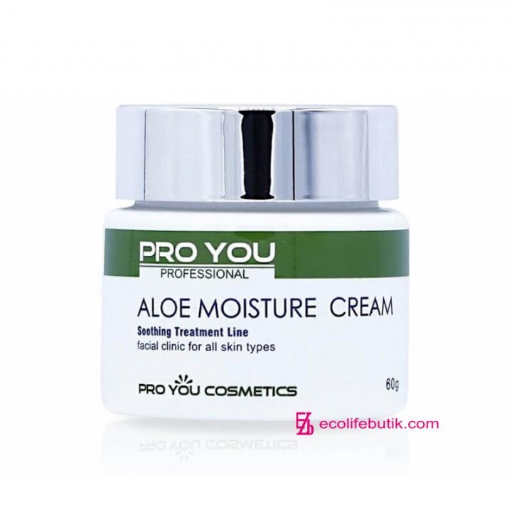 Крем с экстрактом алое Pro You Aloe Moisture Cream для интенсивного увлажнения кожи, 60 г