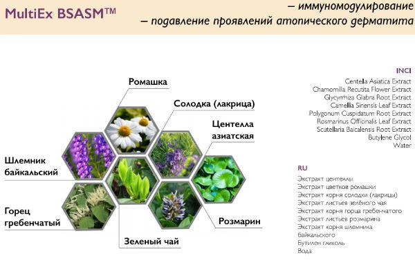 комплекс MultiEx BSASM c экстрактами трав в составе маски для карбокситерапии лица