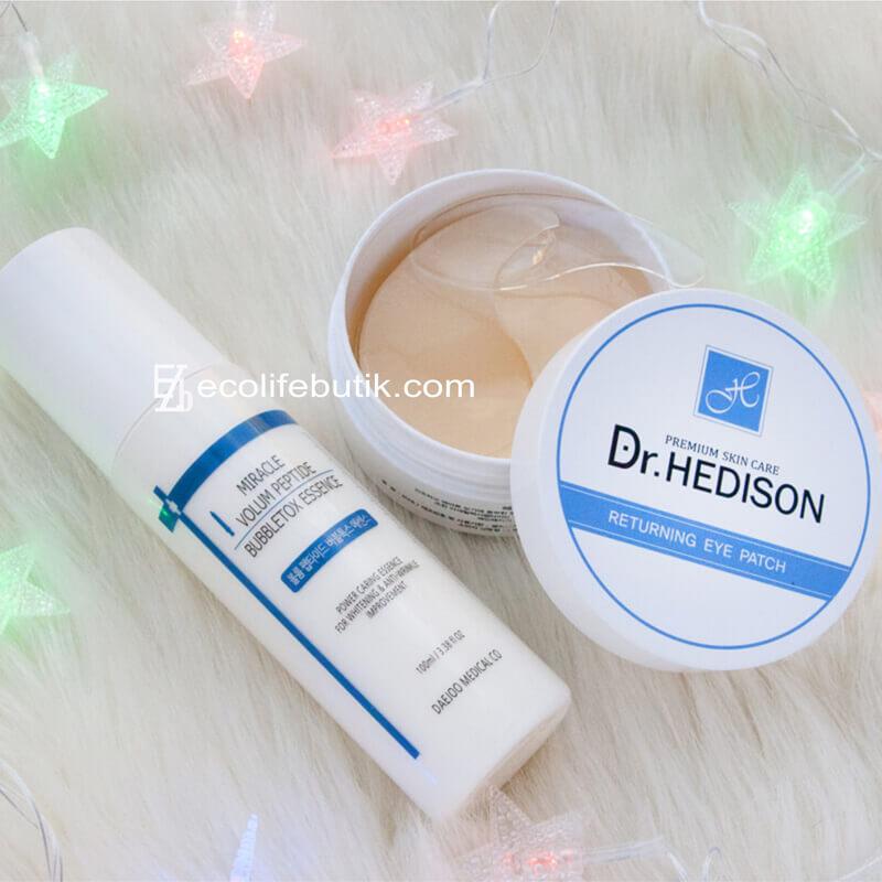 Кислородная сыворотка с пептидами Miracle Peptide Bubbletox + проф. патчи Dr.Hedison