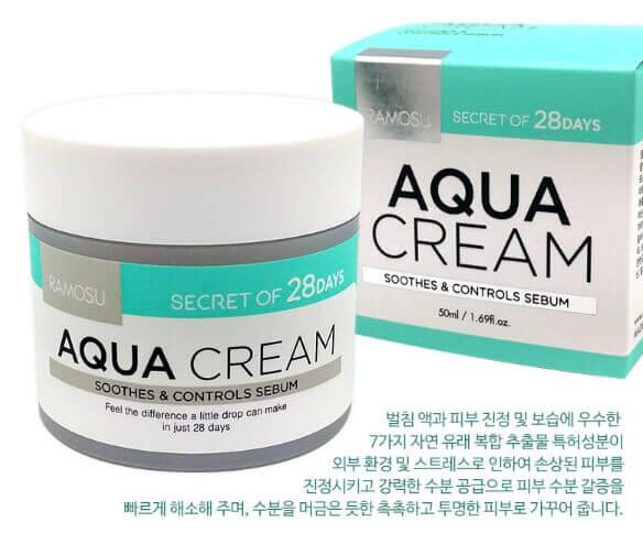Увлажняющий, успокаивающий себорегулирующий крем Ramosu Aqua Cream